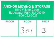 commercial moving label tag